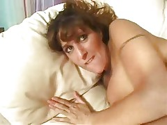 Nasty redhead busty milf with tats talks dirty while fucking